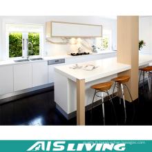 Fabricant d'armoires de cuisine en laque blanche Fabricant (AIS-K001)