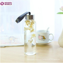 Botella de cristal a prueba de calor al por mayor del viaje al por mayor 1 litro