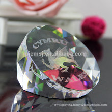 Hot Sale Animal Gifts 3d Etched Crystal Paperweight