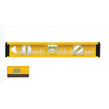 37118 cheap price aluminum I-BEAM spirit level with magnetic on bottom