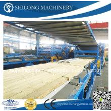CE Aprobado EPS Sandwich Panel Board Roll formando la línea de producción de la máquina
