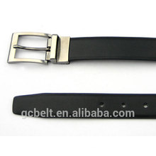 Man's classical PU leather belt with overturn alloy buckle