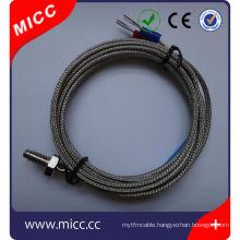 disposable fiberglass wire screw type k type thermocouple temperature sensor