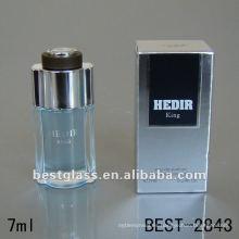 10ml botella de vidrio francés cuadrado mini perfume botellas