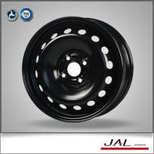 4 buracos preto rodas cromadas 15x6 aço rodas de carro borda