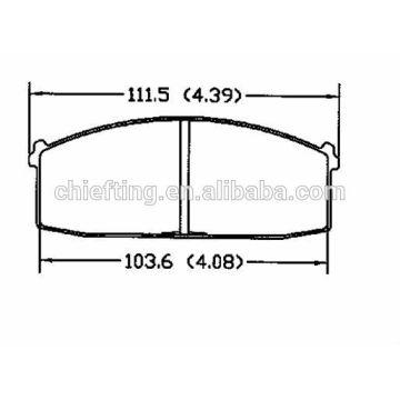 D186 41060-D1488 41060-D1490 pour Nissan pièces de rechange plaquettes de frein de voiture