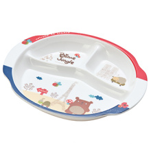 Plaque à déjeuner à trois compartiments de Melamine Kid's Seires (FB808)