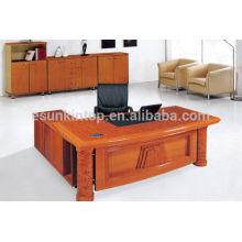Design de table de bureau de direction, bureau de bureau de devant, meuble de bureau en bois