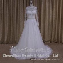 AK012 China dress manufacturer long sleeve lace wedding dress turkey