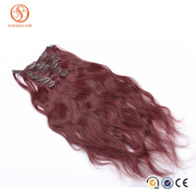 Direct Factory Wholesale Double Drawn Thick Ends Remy Clip In Hair Extension