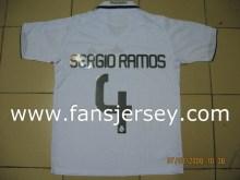 No.1 Supplier--#4 Sergio Ramos 08/09 Home White Soccer Tops
