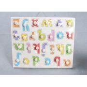 Educativi in legno alfabeto capitale Peg Puzzle