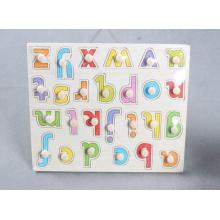 Éducatif en bois Alphabet Capital Peg Puzzle