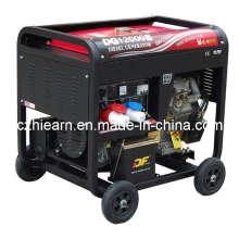 Juego de generador diesel de dos cilindros (DG12000E)