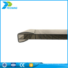 Best choice clear twin wall polycarbonate locking system sheet factory