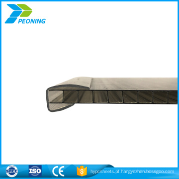 Fábrica de folha de sistema de bloqueio de policarbonato de parede dupla de escolha melhor
