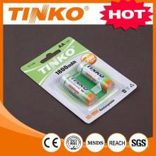 Bateria recarregável NI-MH tamanho AA 1800MAH 1.2 v