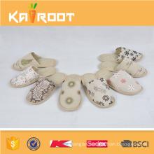 summer natural linen custom house hotel slippers