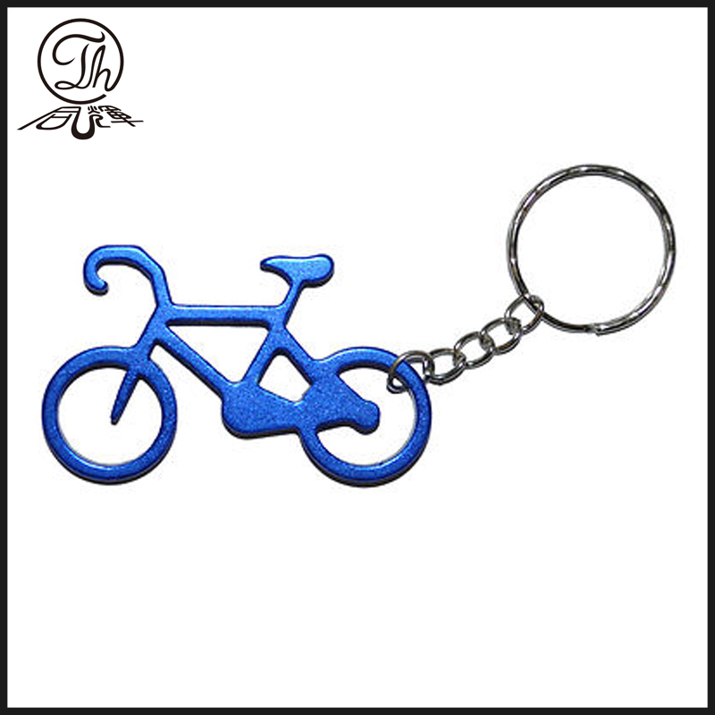 Porte-clés métalliques Blue Bike and Bicycle