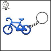 Portachiavi metallico blu e bicicletta