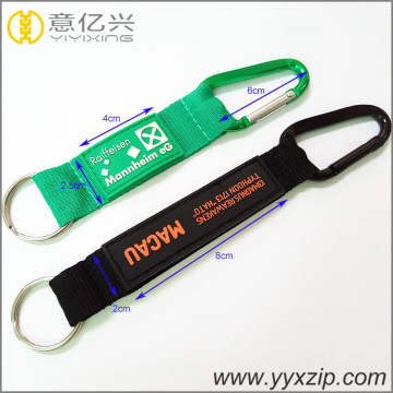 silkscreen printing short keychain with climbing buckle