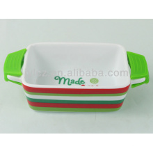 mini utensilios de cerámica rectangular personalizada