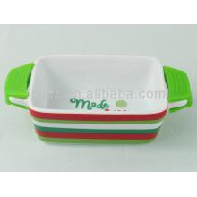 mini ustensiles de cuisson en céramique personnalisés rectangulaires