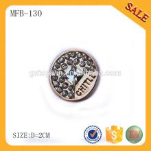 MFB130 Accesorio de costura con botones grabados logotipo personalizado de alta calidad