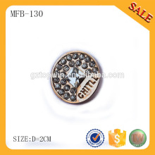 MFB130 High quality custom logo engraved button sewing accessory