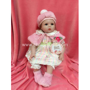 "22"" Winding pink silicone vinyl doll"