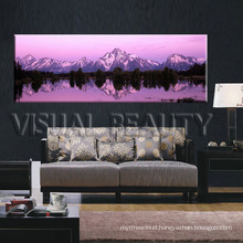 Landscape sunset canvas prints/ snow mountain canvas printing/Panoramic canvas wall art