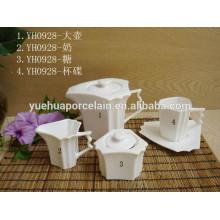 Venta al por mayor de cerámica fina canister de azúcar de azúcar de café set / set de azúcar té de café
