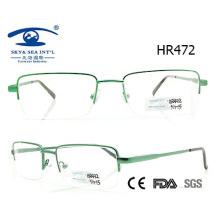 Moldura de óculos de metal estilo homem clássico (FR472)