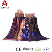 Couverture de micromink imprimée superbe de polyester de 100% avec Sherpa