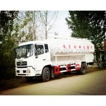 8x4 Drive Dongfeng bulk-fodder animal feed transport truck/bulk-grain carrier/electric screw animal feed truck/feed truck