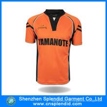 2016 Großhandelssportkleidung-kundenspezifisches Qualitäts-Fußball-Hemd
