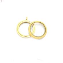 30mm Runde Matte Farbe Twist Schraube Edelstahl schwimmende Charme Medaillons Großhandel, Gold Medaillon Designs