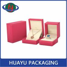 Wedding Custom Plastic PU Leather Pendant Box