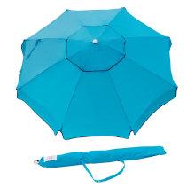 Light Blue outdoor big beach umbrella with anchoring