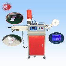 Factory making for Ultrasonic Ribbon Cutting Machine Ultrasonic nonwoven trademark cutting machine supply to Poland Factories