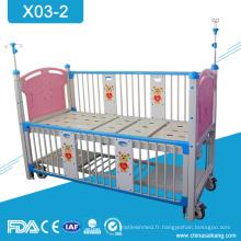 Lit médical manuel d'enfants de double manivelle de l'hôpital X03-2