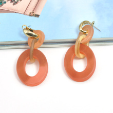 Wholesale hypoallergenic clip on jewelry acrylic resin new 2020 fall earrings