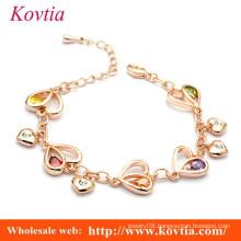 wholesale links charm bracelet birthstone charm bracelet heart link bracelet
