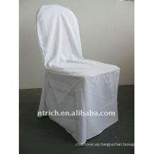 Patrón de cubierta de silla de banquete estándar de color blanco, CTV550