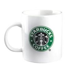 Caneca de café cerâmica branca de Starbucks