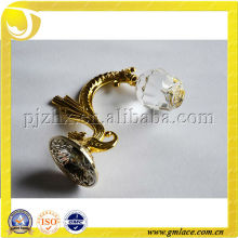 High quality crystal curtain hook, magnetic curtain holdback