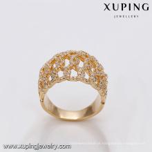 r - 7 xuping atacado fábrica de jóias por atacado em guangzhou 18 k anel de moda banhado a ouro para mulheres