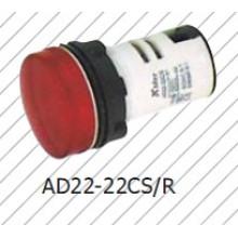Lâmpada indicadora vermelha 22mm, lâmpada de sinal vermelho, Greem, azul, branco, 6V-380V