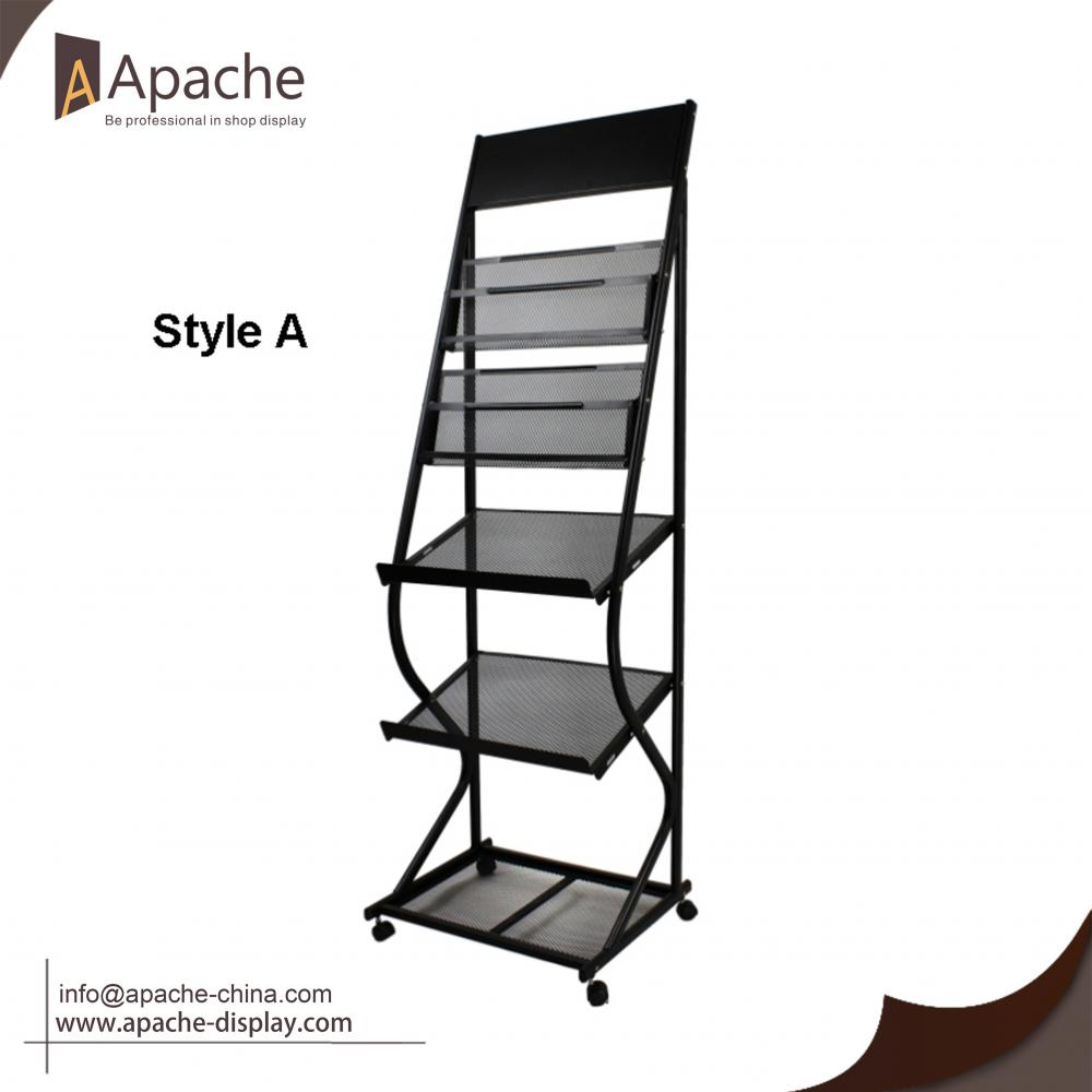 Multi-Functional Moveable Newspaper Poster Display Stand