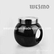 Black Ceramic Kitchen Coffee Canister